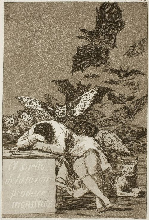 """The Sleep of Reason Produces Monsters"" by Francisco Goya"